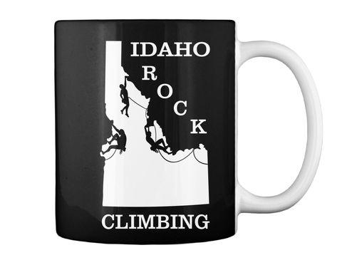 Idaho Rock Climbing Black Mug Back