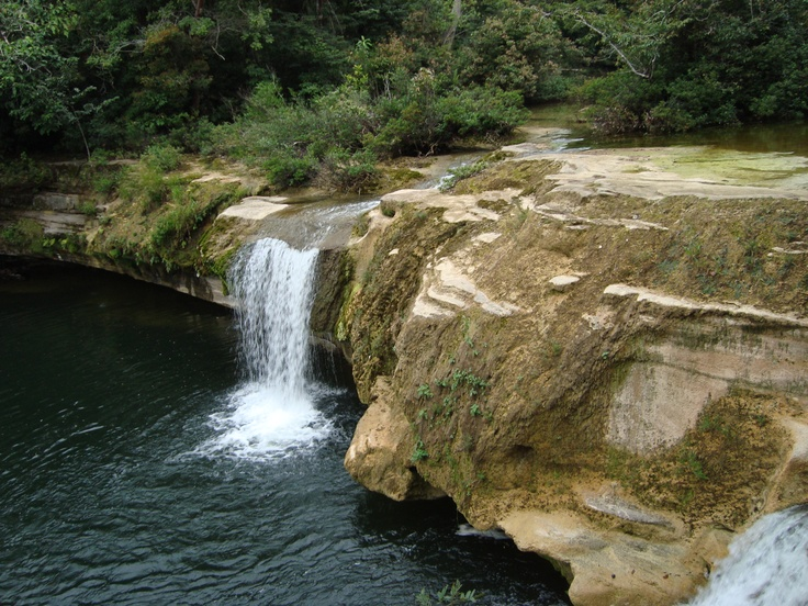 Punta Gorda, Belize...I stood at the top of this waterfall, and it is my happy place during finals. Lol