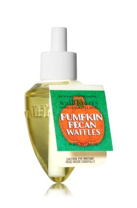 Pumpkin Pecan Waffles - Wallflowers Fragrance Refill - Bath & Body Works - Fragrance that welcomes you home! Combine with your favorite Wallflowers Fragrance Plug, sold separately, to scent any room with noticeable freshness 24/7 for weeks and weeks.