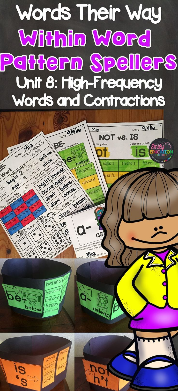 Words Their Way Within Word Pattern Spellers Unit 8 High Frequency Words and Contractions Activities