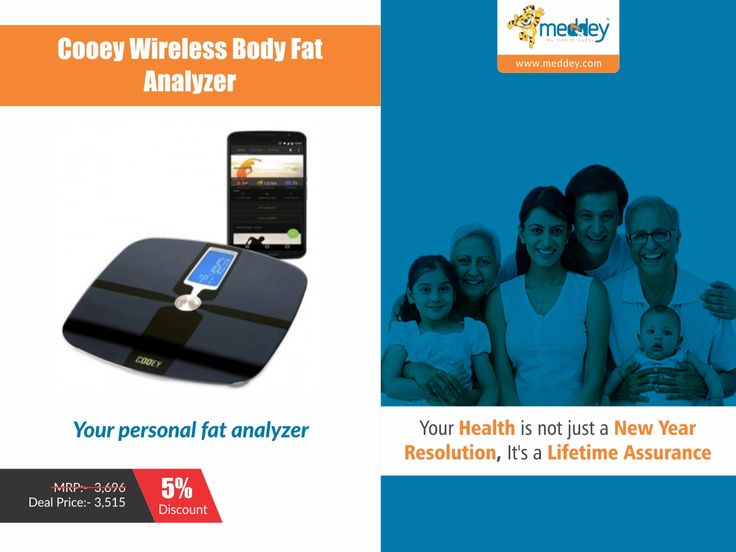 Are You Fat? Do you know Your Fat? Do you want to be Healthy? Cooey Smart Body Analyser helps you to measure weight using Bio-Electrical Impedance Analysis Technology to estimate Body Fat, Total Body Water Percentage, Bone Mass and Muscle Mass. Now Sync your data via Bluetooth and effectively track progress on your smartphone.Know your Fat composition and Act rightly to Stay Healthy!!  #Meddey #Healthbuddy #Health #myHealthBuddy #Healthyliving #Healthcare #Homehealthcare #Goodhealth…