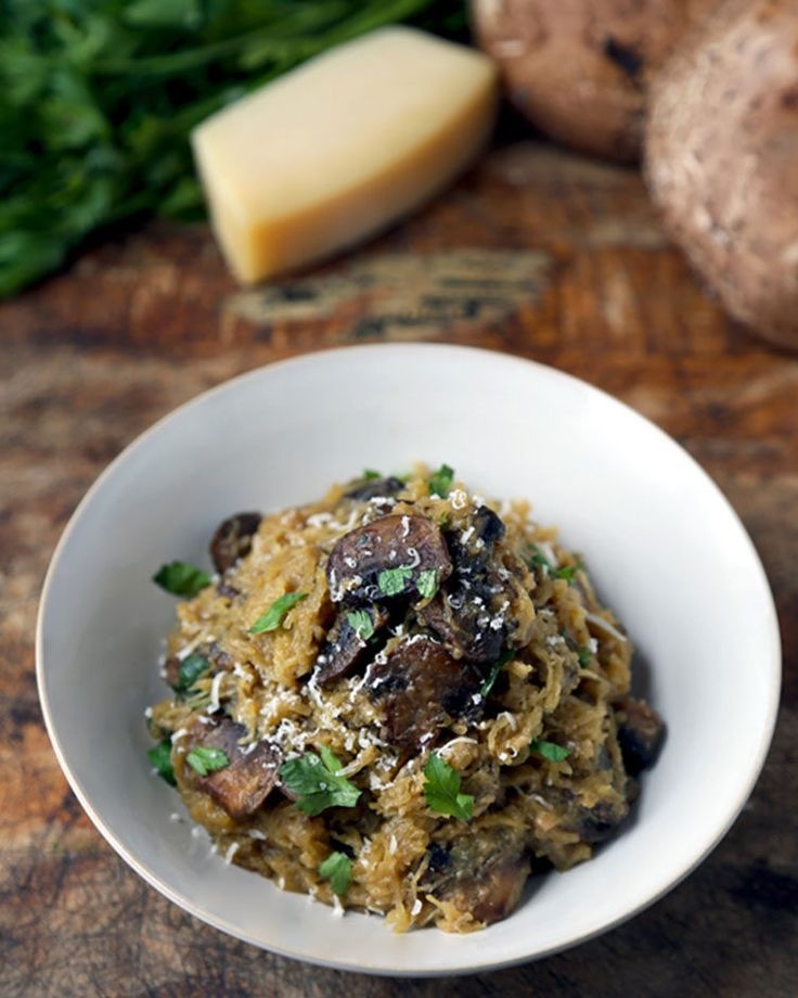 Spaghetti Squash With Mushrooms Parmesan