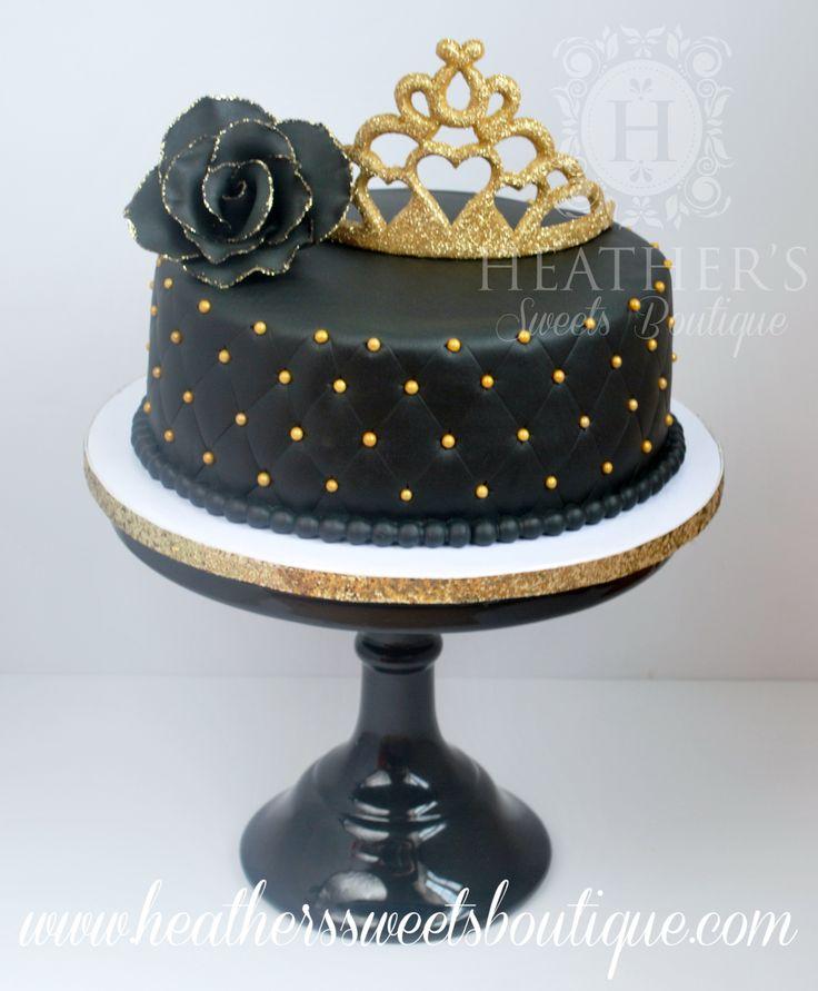 27 Fresh Black And Gold Birthday Cake Designs