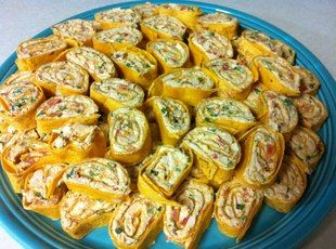 Chicken Enchilada Dip Roll-Ups — cream cheese, shredded Mexican blend cheese, g