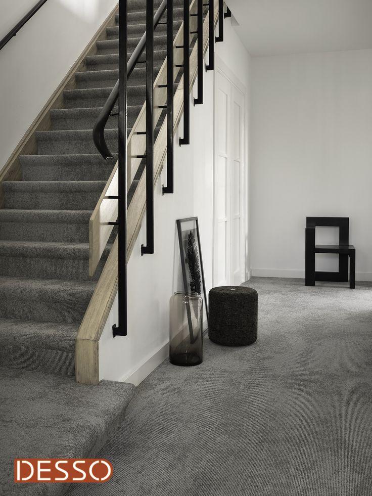 Desso tapijt shades, beton look tapijt. Ook zeer geschikt op de trap!