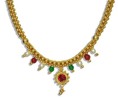 Womens Trendz Half Jhaler Multi Colour Thushi Necklace Necklaces and Necklace Sets on Shimply.com