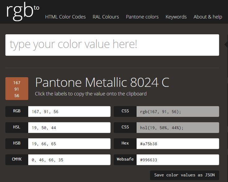 Rgb Pantone Tool Converter