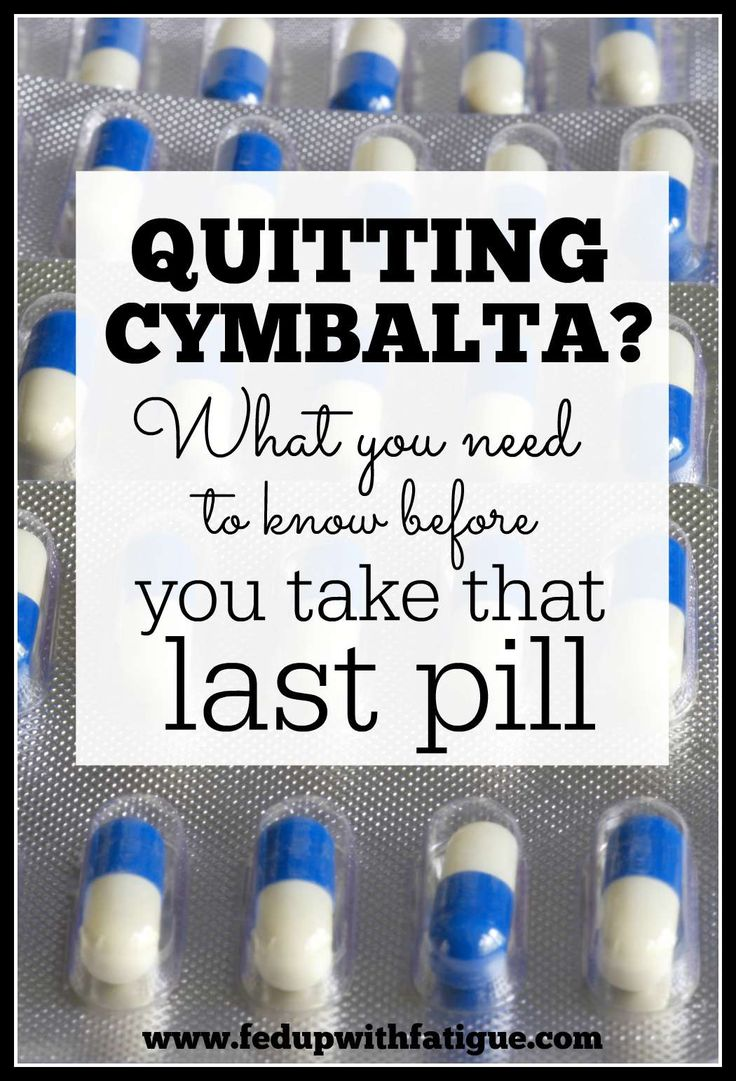 Wicked stuff to come off of!!! What you need to know before you stop taking Cymbalta. http://fedupwithfatigue.com/?p=712