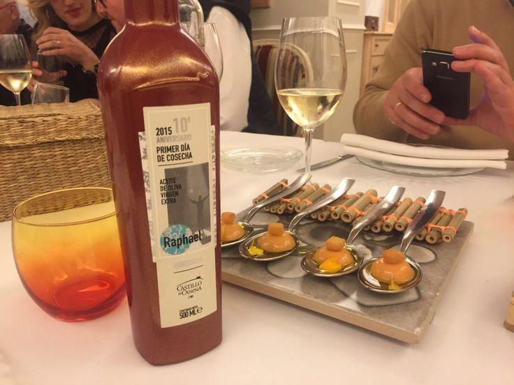 Cena Maridada con nuestros AOVE en ReComiendo... Pairing dinner with our EVOO.
