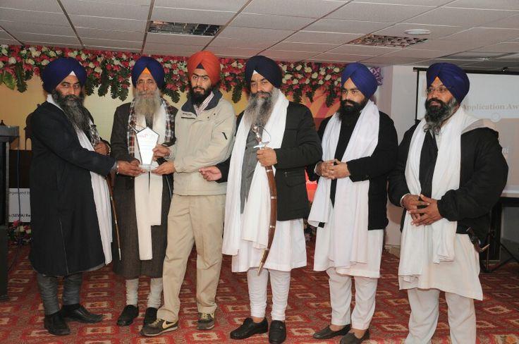 Sikh Award 2014 for Gurbani Searcher App was received by Gunveer Singh on behalf of Sardar Surinderpal Singh Bindra and Team ..