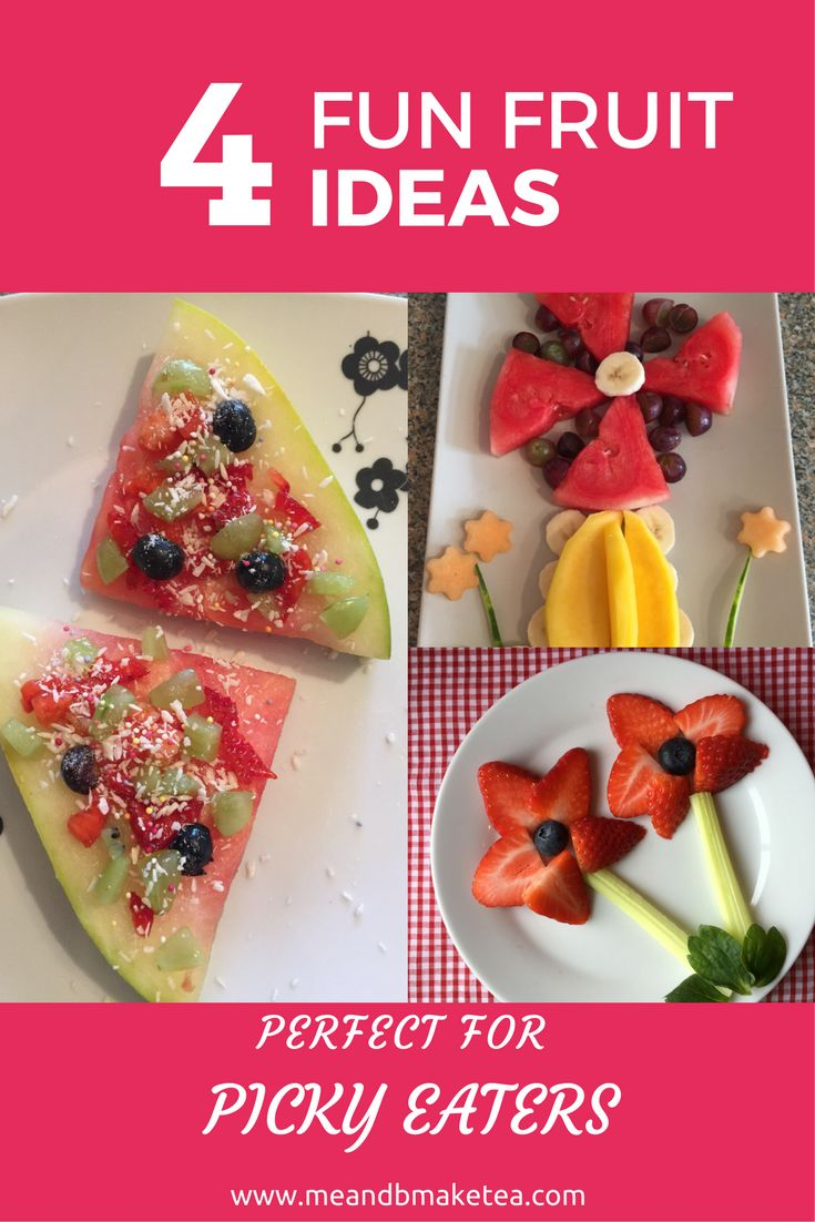 Fruit Salad Ideas for Picky Eaters and Fussy Toddlers!    You can't go wrong with a fruit salad. Select random bits of fruit, chop up into small pieces and serve. Easy peasy. Well it is, but here are a few alternatives to making a fruit salad. It's nice to mix it up a bit if you have the time!