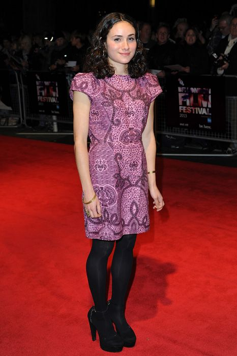 Yasmin Paige at the London Film Festival premiere of The Double