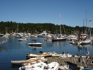 Ganges Harbour Salt Spring Island BC