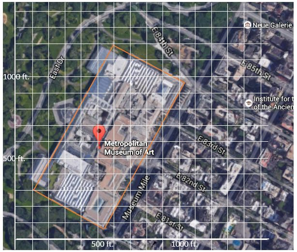Area in a Coordinate Plane ala Google Maps