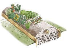 Jardinage- hors sol : Réaliser une butte de jardin qui vous apportera une pleine manne de bons légumes et d'excellents fruits l'an prochain... est plutôt simple. MAIS... ... il y a tout de même que...