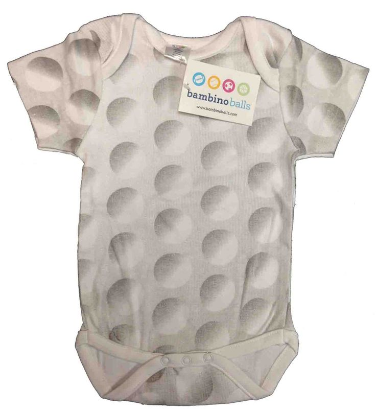 Great news!  Our new Golf Ball Bambino Ball baby outfit is finally here - just in time for the Masters and the golf season.  What do you think of our design?  Did we get the dimples right?