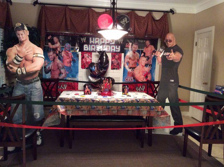 ... Centerpieces Parties, Wwe Wrestling Birthday Parties, Birthday Ideas