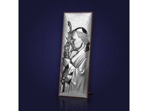 Srebrny obrazek z Papieżem