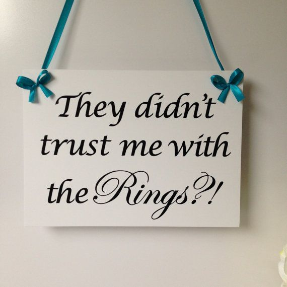 Wedding sign They didn't trust me with the by SimplySpecialBoutiq