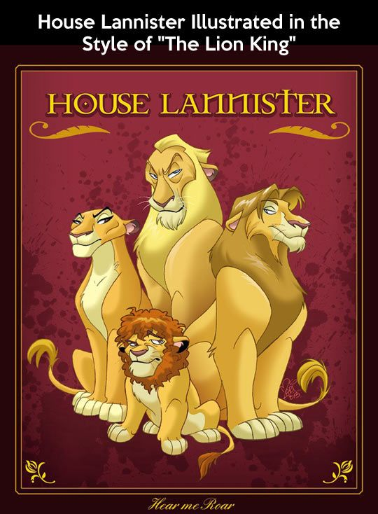 Game of Thrones, Lion King Style. This is dead on.