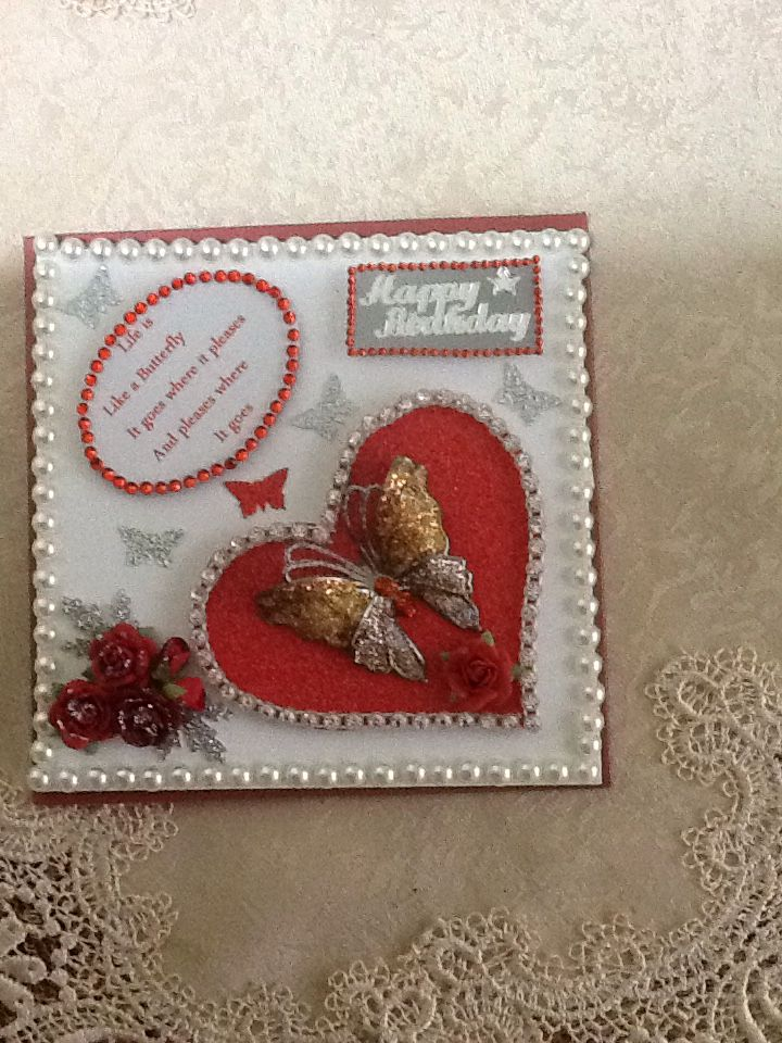 Pearls local 2.00 shop,roses from dusty attic,heart trim Swarovski crystals from my stash butterfly from my stash small butterflies craft punch