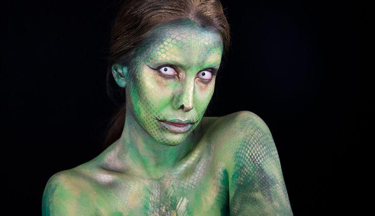 Halloween Cadılar Bayramı Makyajı  |  Snake Makeup