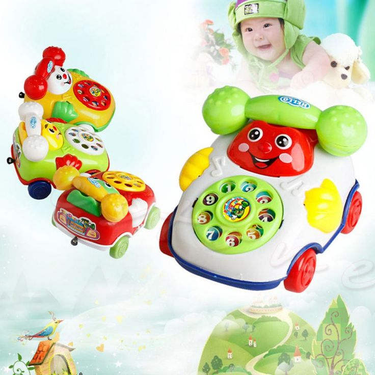 2017 New Style Electric Phone Model Machine Children Educational Toys Music Cartoon Phone Funny Toy Random Color