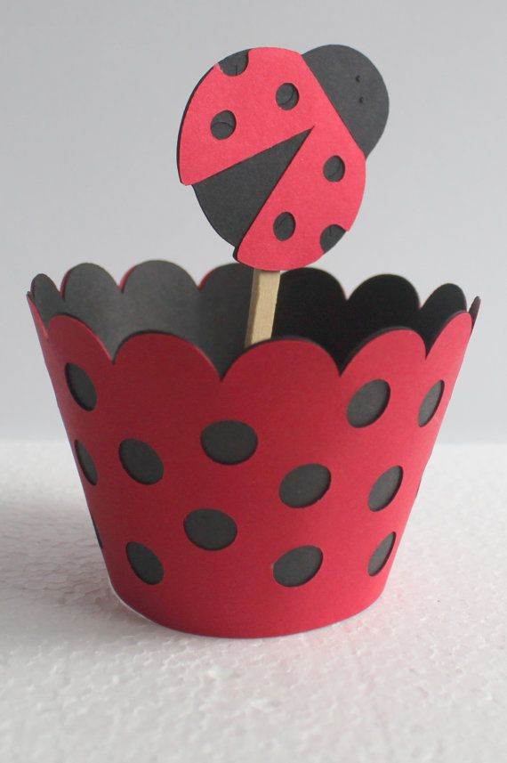 Lady Bug Cupcake Wrappers by calladoo on Etsy, $12.00