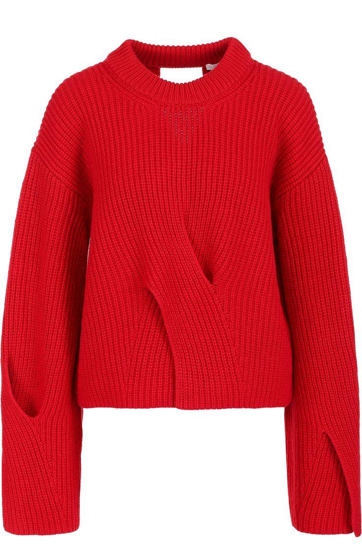 шерстяной пуловер BOSS