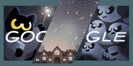 """Google ha pubblicato un doodle gioco dedicato alla festa pagana di Halloween. In pieno stile tenebroso il logotipo si mimetizza in uno scenario da """"paura"""""""