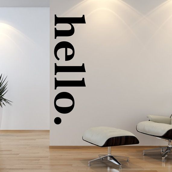 Hello Door Decal Welcome Wall Stickers , Hello Wall Decal Quotes ,Hello wall mural,Vinyl lettering wall sticker Modern wall decals fs 131