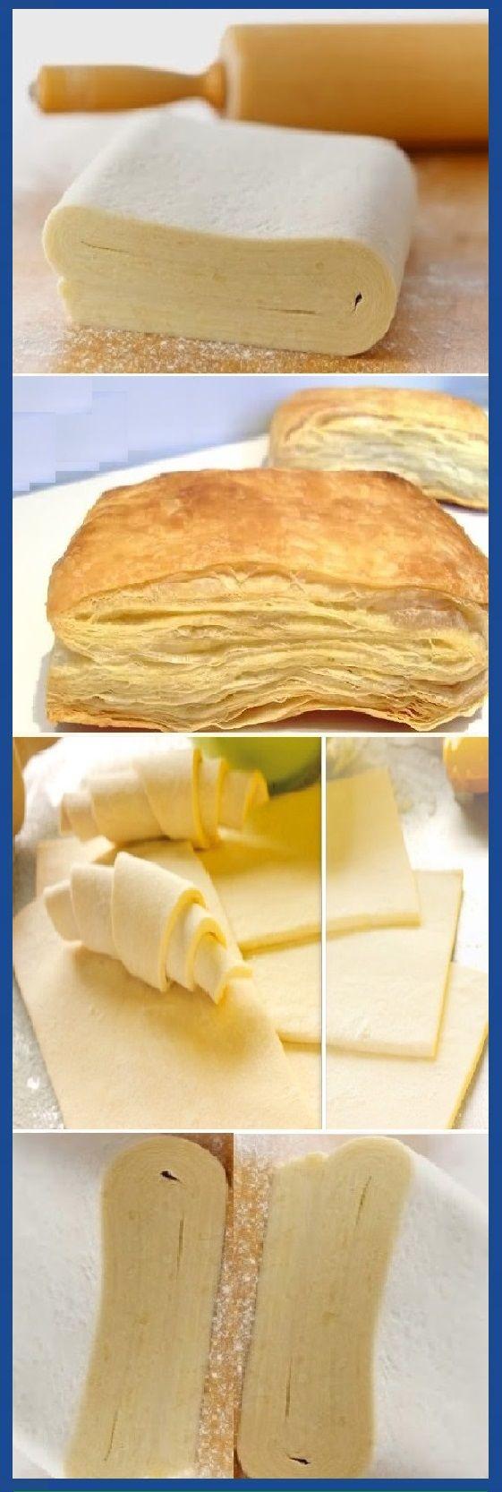 HOJALDRE FÁCIL receta casera paso a paso.  #hojaldre #facil #tips #masa  #panfrances #pain #bread #breadrecipes #パン #хлеб #brot #pane #crema #relleno #losmejores #cremas #rellenos #cakes #pan #panfrances #panettone #panes #pantone #pan #recetas #recipe #casero #torta #tartas #pastel #nestlecocina #bizcocho #bizcochuelo #tasty #cocina #chocolate   Si te gusta dinos HOLA y dale a Me Gusta MIREN...