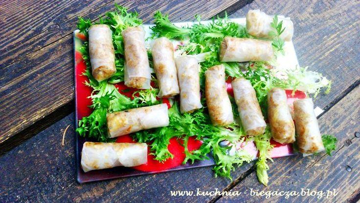 Przepis na znikające w mgnieniu oka kalafiorowe spring rollsy! #100club #springrolls #jedzenie #blogbiegacza