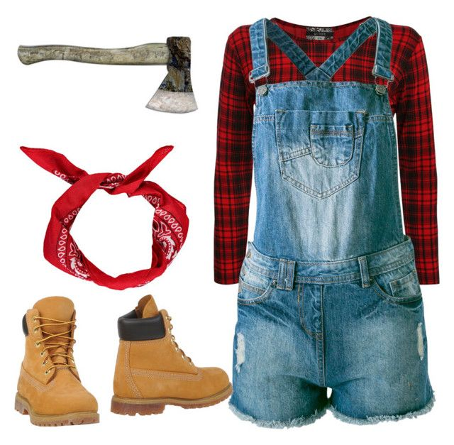 """Lady lumberjack (lumberjill?)"" by mrs-o-bloom-2 ❤ liked on Polyvore"