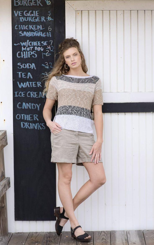 Belmar Tee Knit Pattern in BAJA