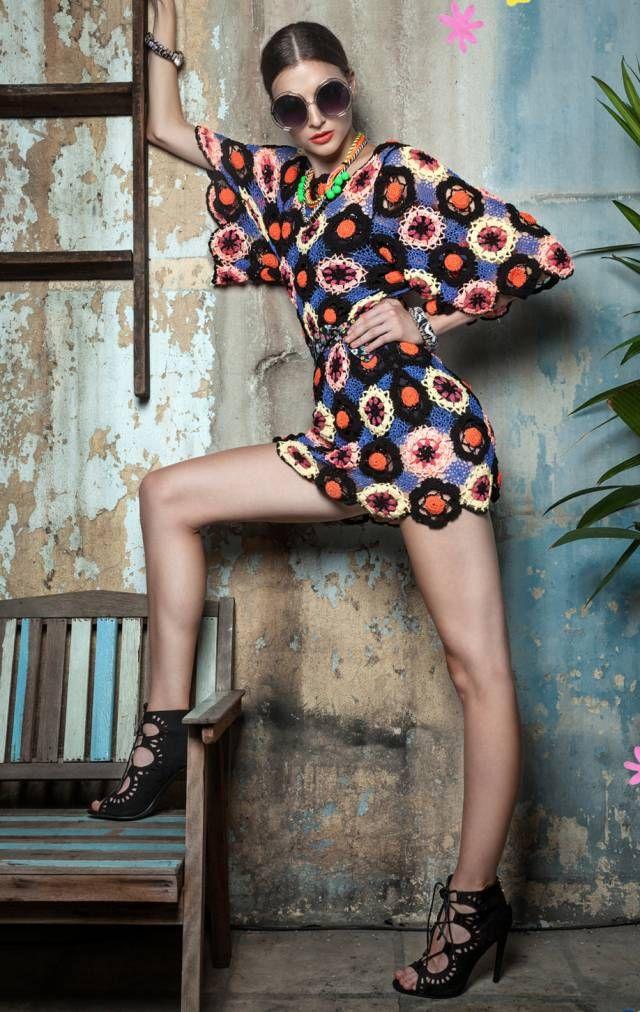 celiab crochet fashion dress