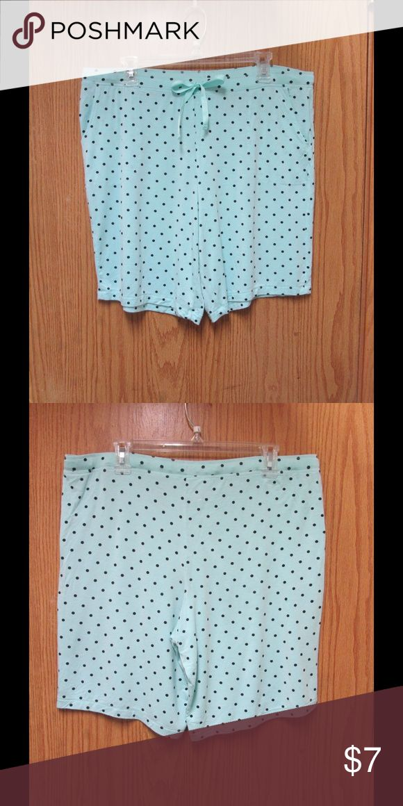 Cute Mint Shorts W/Black Polka Dots & Ties These of short-sleep wear are really cute and super comfy. Soft and stretchy material. Size Large 12-14 Almost New. Save $$$ on bundles. N/A Intimates & Sleepwear