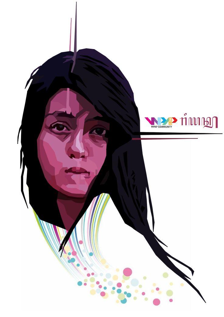 WPAP 7th Project Model: @IntanAnastya Software: Inkscape Wpaper: @Ryan23__