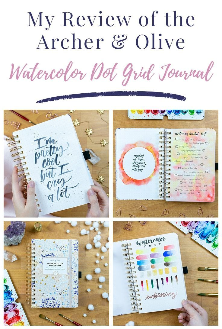 The Archer Olive Watercolor Dot Grid Journal Review The Ideal