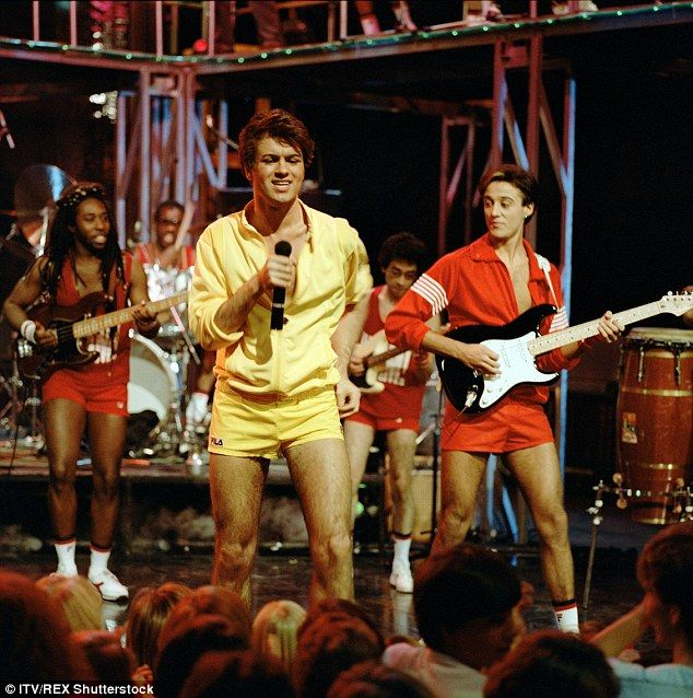 The hey-day: Wham! George Michael and Andrew Ridgeley perform on music TV show The Tube in 1983