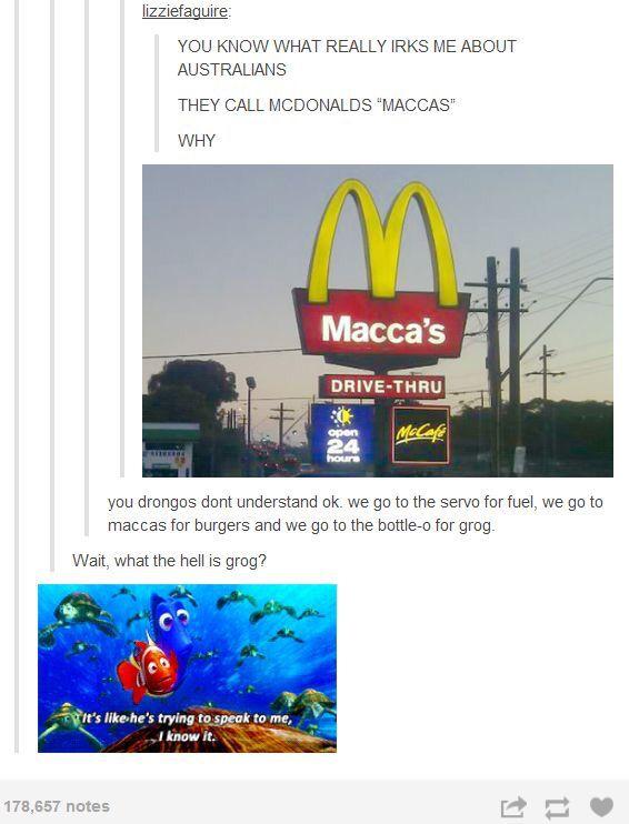 Maccas not McDonalds