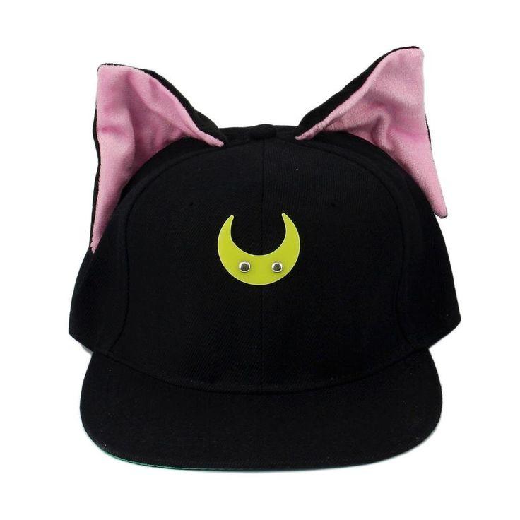 Sailor Moon Cat Luna Baseball Hat Cap