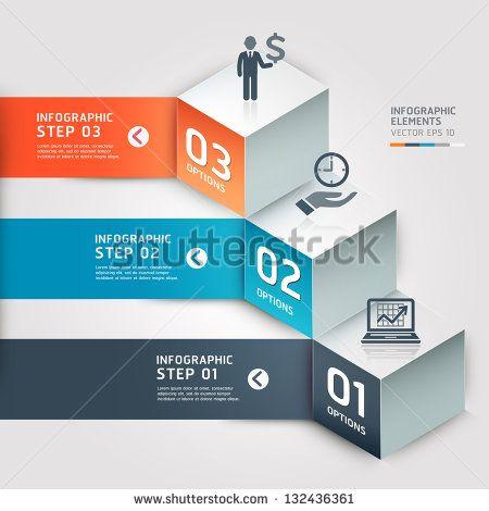 Современные варианты бизнес шаг.  Векторная иллюстрация.  может быть использован для размещения рабочего процесса, диаграммы, Настройки Количество, активизировать варианты, веб-дизайн, инфографика, баннеров.