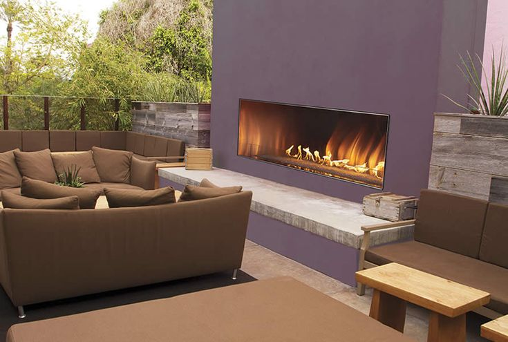 """Carol Rose 48"""" Outdoor Linear Fireplace 
