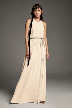 bafbc0c007d Georgette-Over-Charmeuse Blouson Bridesmaid Dress Style VW360434 ...
