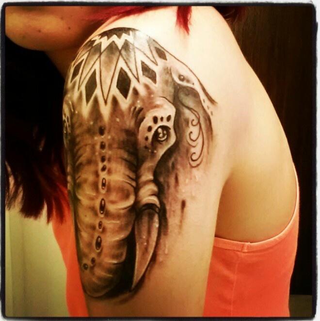 Elephant tattoo #elephant #tattoo