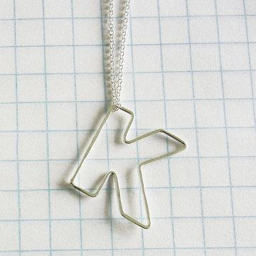 """Gauge Nyc: Mini Bubble Letter """"k"""" Necklace - Fab.com"""