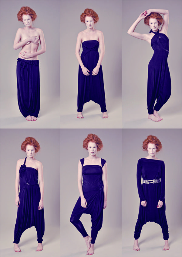 The Italian-based fashion company, Lemuria, creates innovative, functional and transformable clothes. Designer Susanna Giola has fashioned eight different Lemuria garments, each one wearable in more than five ways.