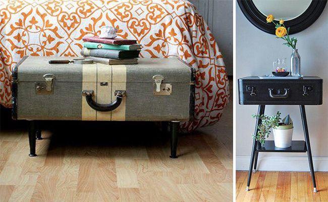 Återvinn mormors gamla resväska och använd som fotpall, avlastningsbord – eller…