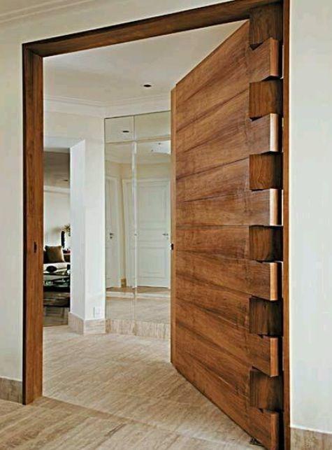 timber door with interlocking hinge - nice!